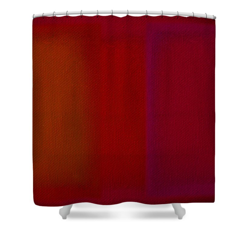 Rothko Shower Curtain featuring the painting Red by Charles Stuart