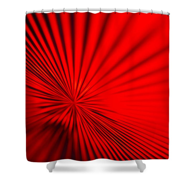 Vortex Shower Curtain featuring the photograph Red Glass Abstract 7 by John Brueske