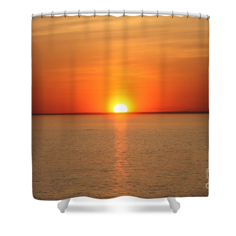 Red Hot Sunset Shower Curtain featuring the photograph Red-hot Sunset by John Telfer