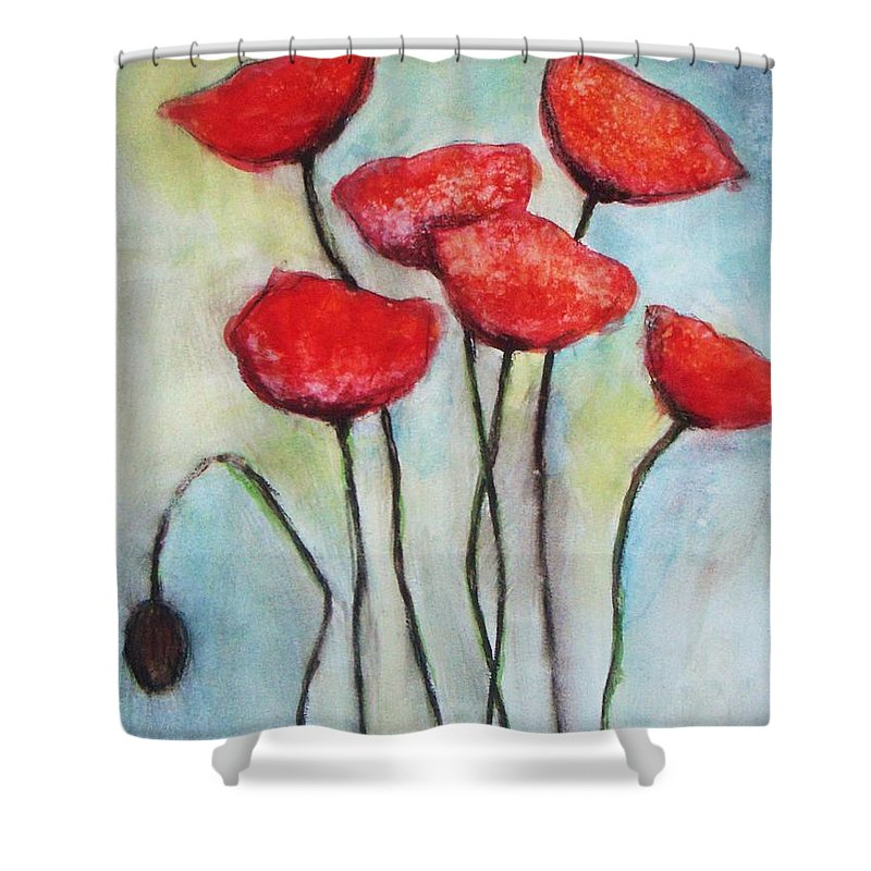 Red Poppies Shower Curtain For Sale By Vesna Antic
