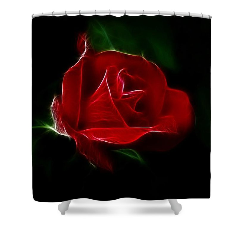 Rose Shower Curtain featuring the photograph Red Rose by Sandy Keeton