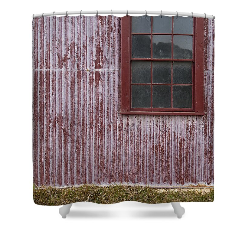 Abstract Shower Curtain featuring the photograph Red Wall by Tim Hester
