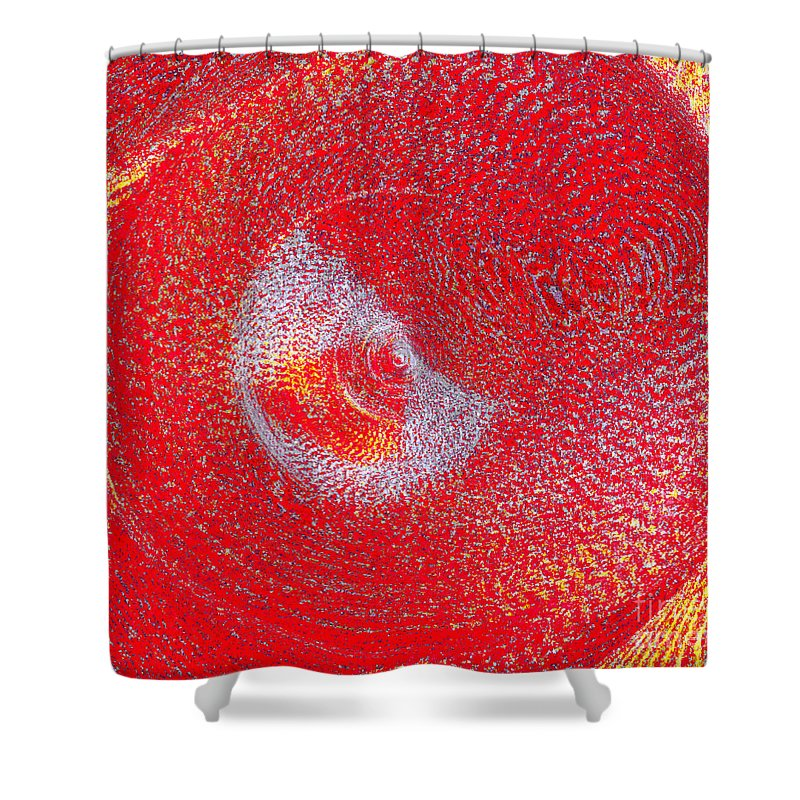 Nude Shower Curtain featuring the painting Red Whirlpool by Alys Caviness-Gober
