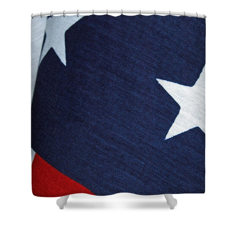 American_flag Shower Curtain featuring the photograph Flag by Tam Ryan
