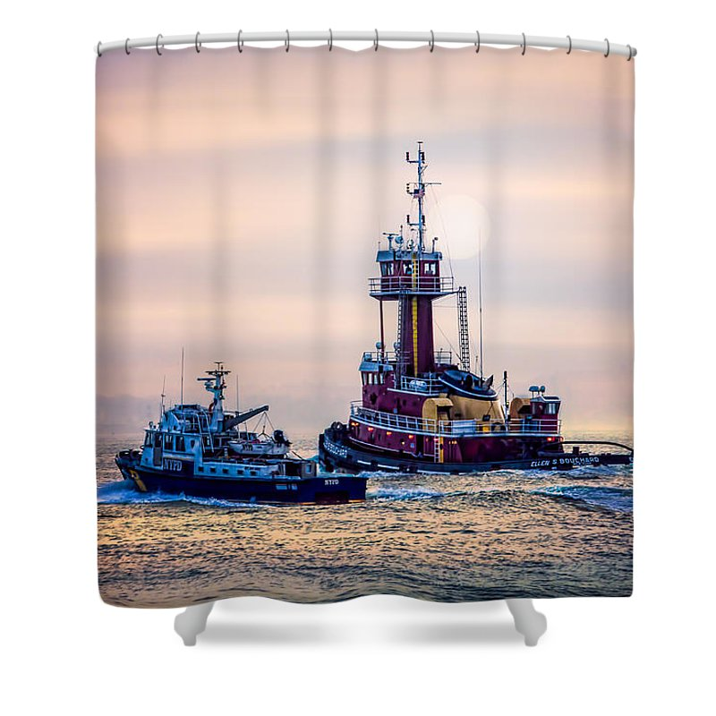 Redhook Shower Curtain featuring the photograph Redhook Harbor by Chris Lord