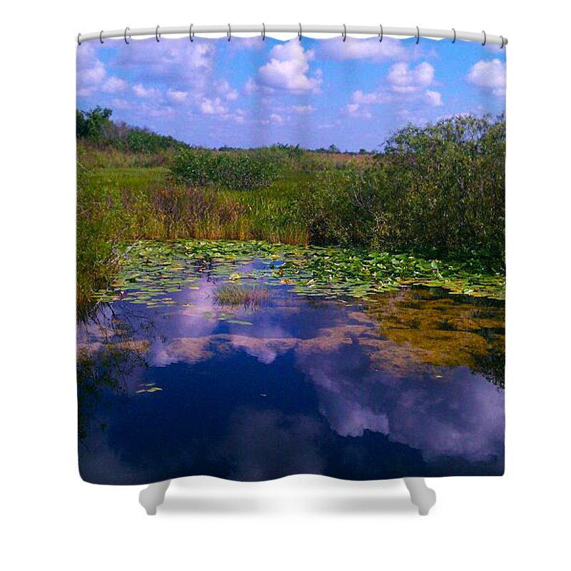 Florida Shower Curtain featuring the photograph Reflecting In The Glades by Charlie Cliques