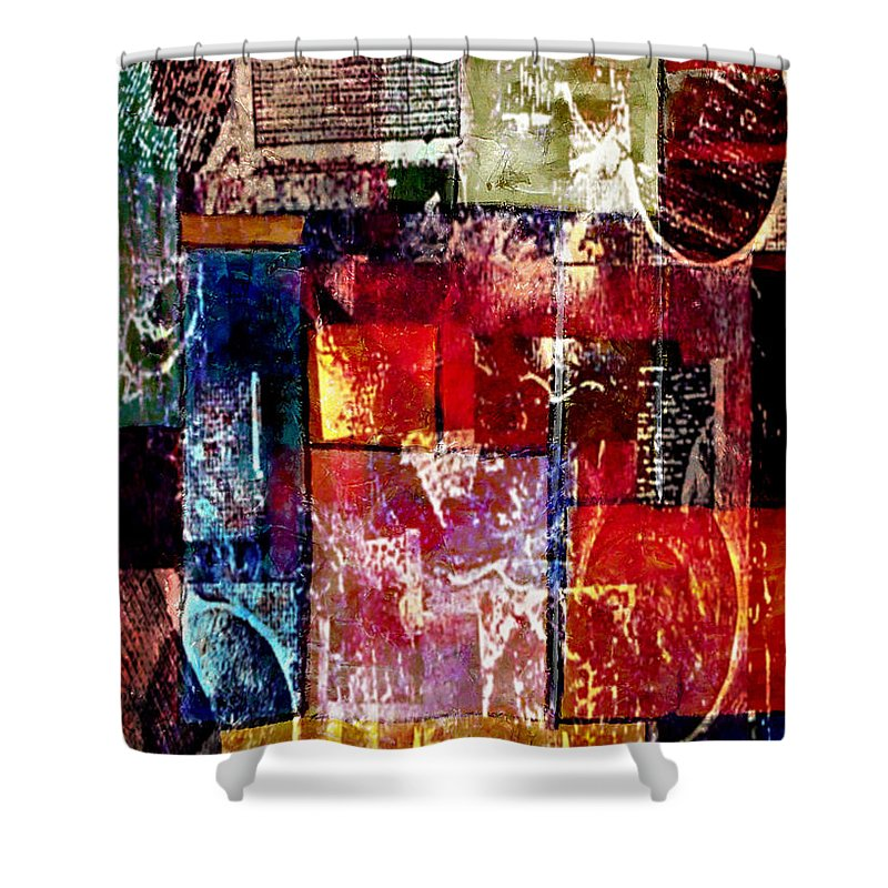 Digital Art Abstract Shower Curtain featuring the digital art Reflection by Yael VanGruber