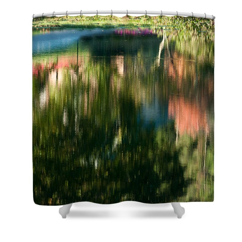 Optical Playground By Mp Ray Shower Curtain featuring the photograph Reflections Of Colours by Optical Playground By MP Ray