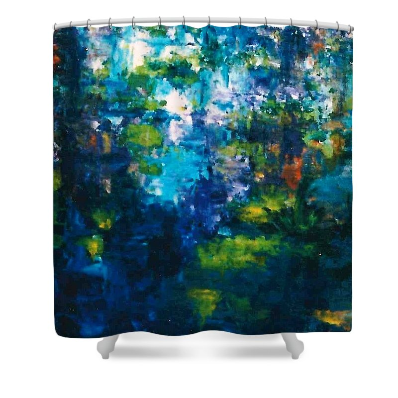 Lyle Shower Curtain featuring the painting Reflections Of Fish by Lord Frederick Lyle Morris - Disabled Veteran