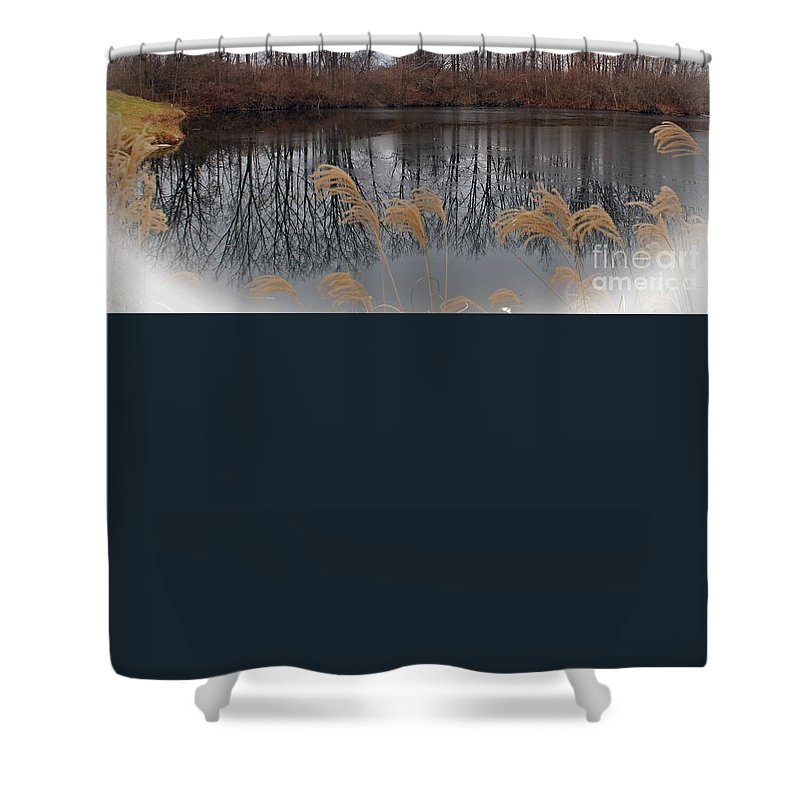 Lake Superior Shower Curtain featuring the photograph Reflections From Minnesota by Stephanie Hanson