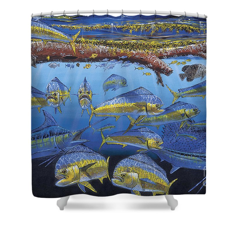 Fish Shower Curtain featuring the painting Refuge Off00110 by Carey Chen