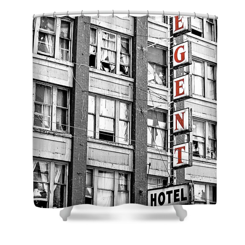 Regent Hotel Shower Curtain featuring the photograph Regent Hotel by The Artist Project