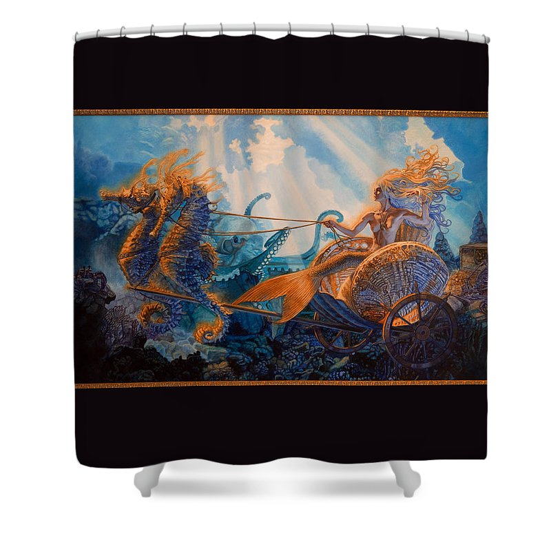 Whelan Shower Curtain featuring the painting Regina Maria by Patrick Whelan