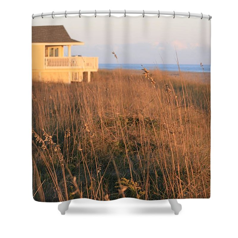 Relaxation Shower Curtain featuring the photograph Relaxation by Nadine Rippelmeyer