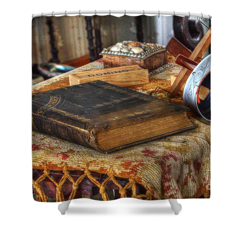 Point Loma Shower Curtain featuring the photograph Relics Of A Lighthouse Keeper by Bob Christopher