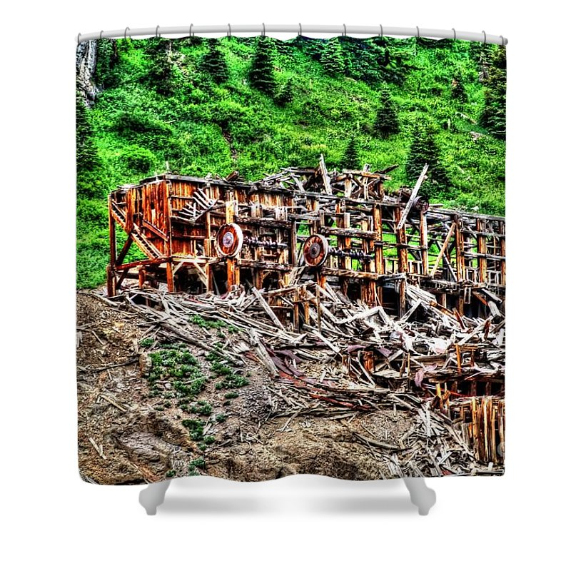 Colorado Shower Curtain featuring the photograph Remains by Bob Hislop