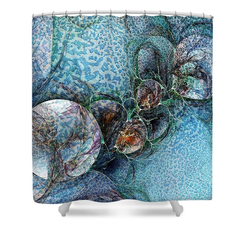 Digital Art Shower Curtain featuring the digital art Remains Of A Mosaic by Amanda Moore