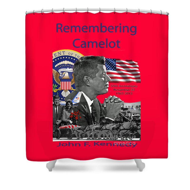Jackie Shower Curtain featuring the photograph Remembering Camelot by Jost Houk
