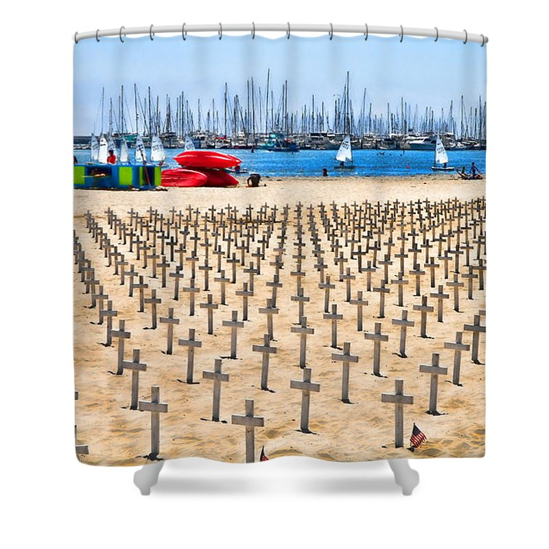 Veterans Shower Curtain featuring the photograph Remembering Heros By Diana Sainz by Diana Raquel Sainz