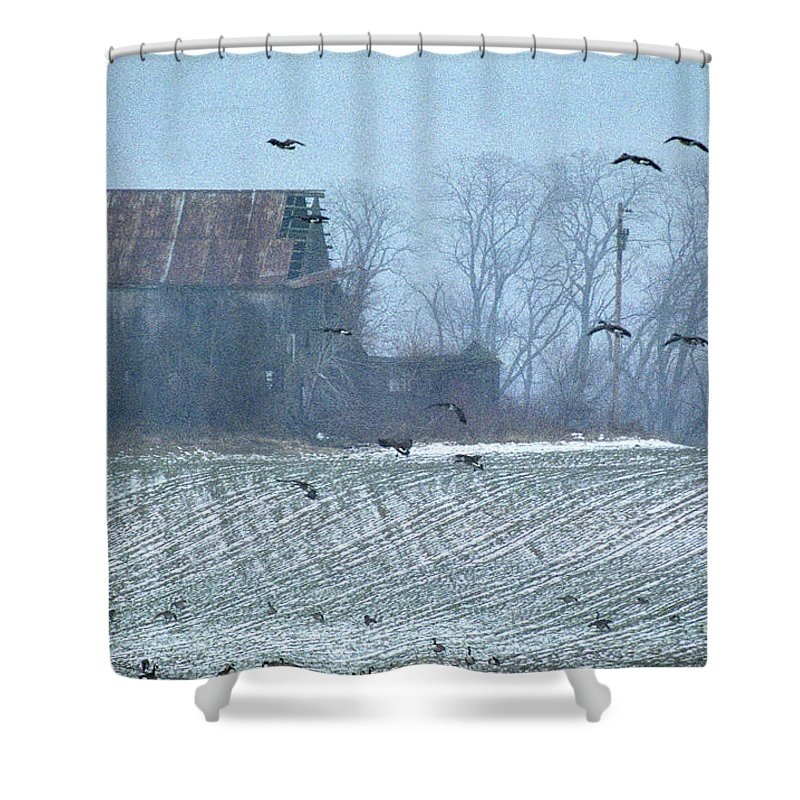 Nature Shower Curtain featuring the photograph Remembering The Farm by Skip Willits