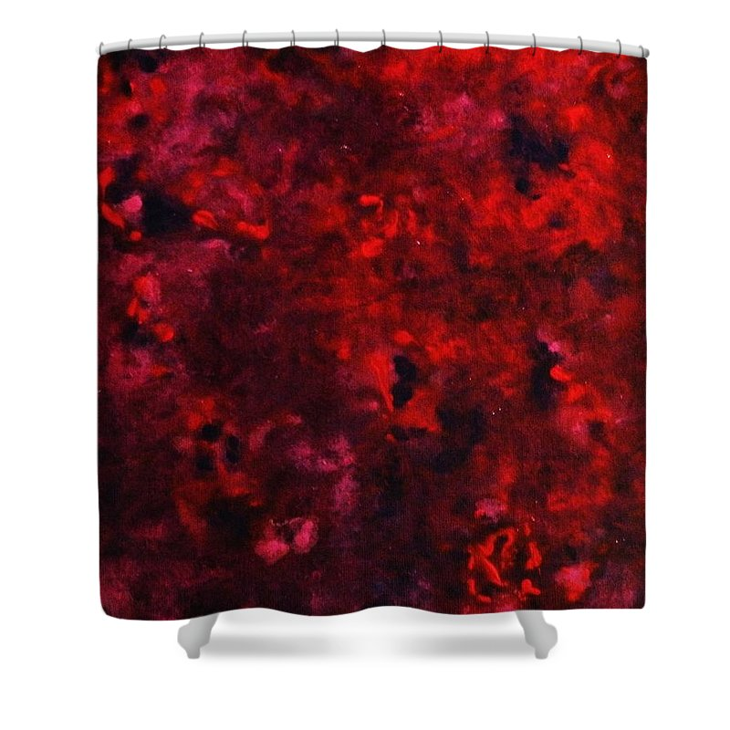 Acrylic Shower Curtain featuring the painting Remembrance by Todd Hoover