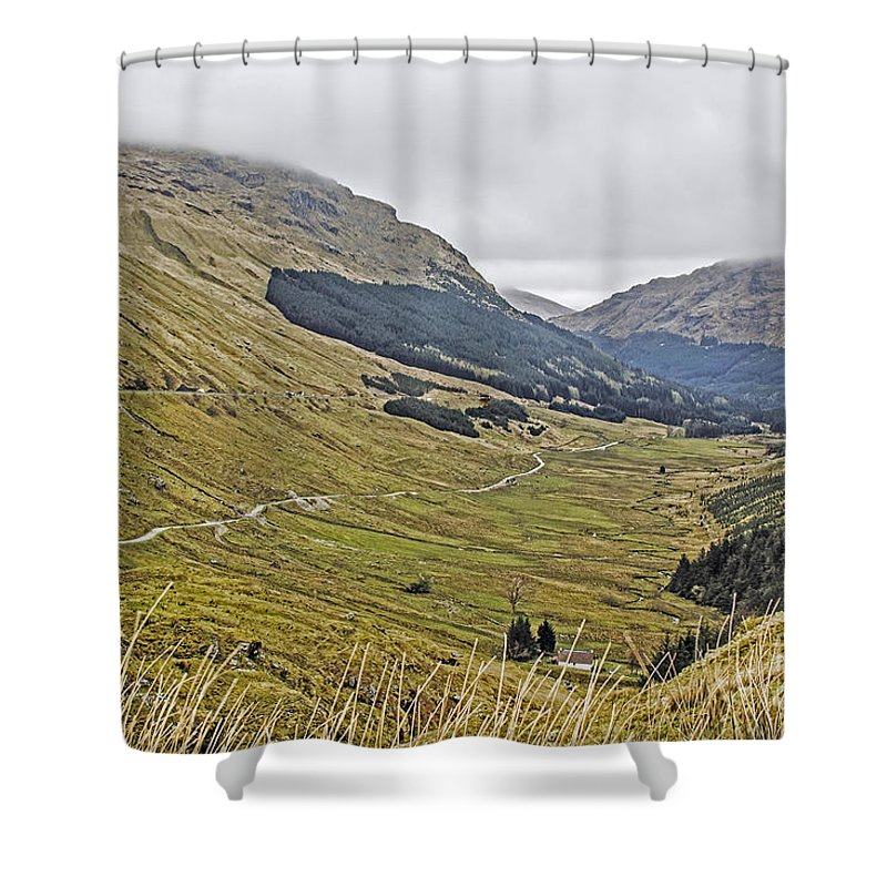 Travel Shower Curtain featuring the photograph Rest And Be Thankful Pass by Elvis Vaughn