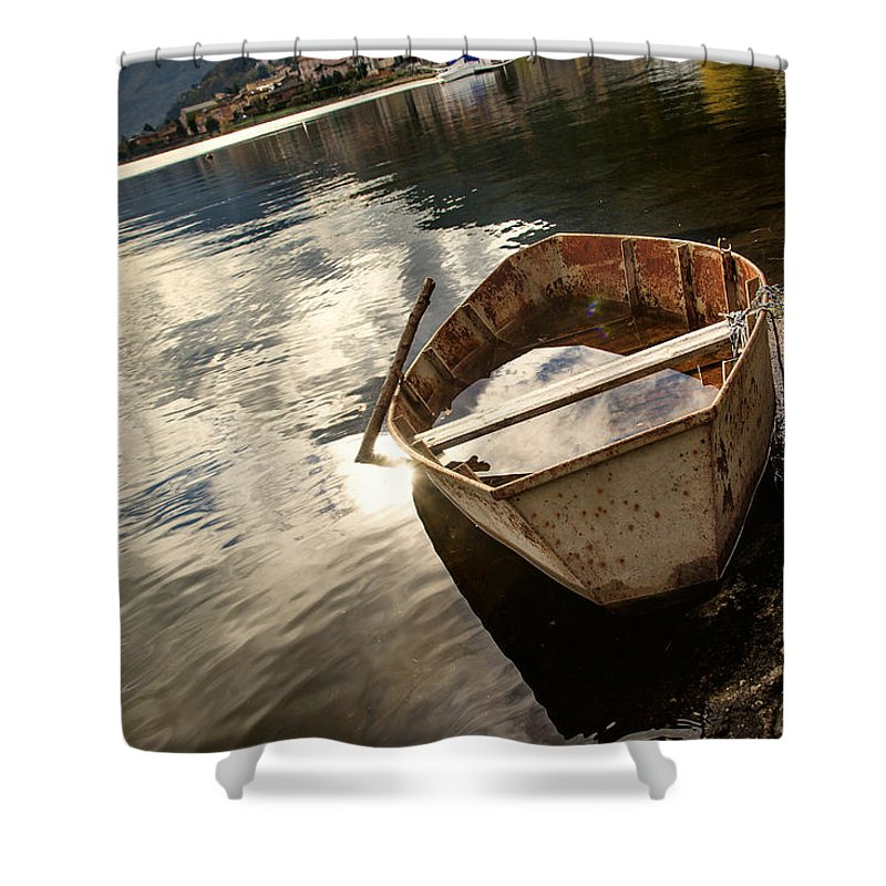 Lake Shower Curtain featuring the photograph Rest Period by Alfio Finocchiaro