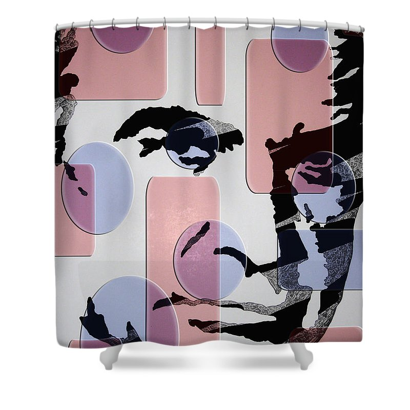 James Bond Shower Curtain featuring the painting retro Bond by Robert Margetts