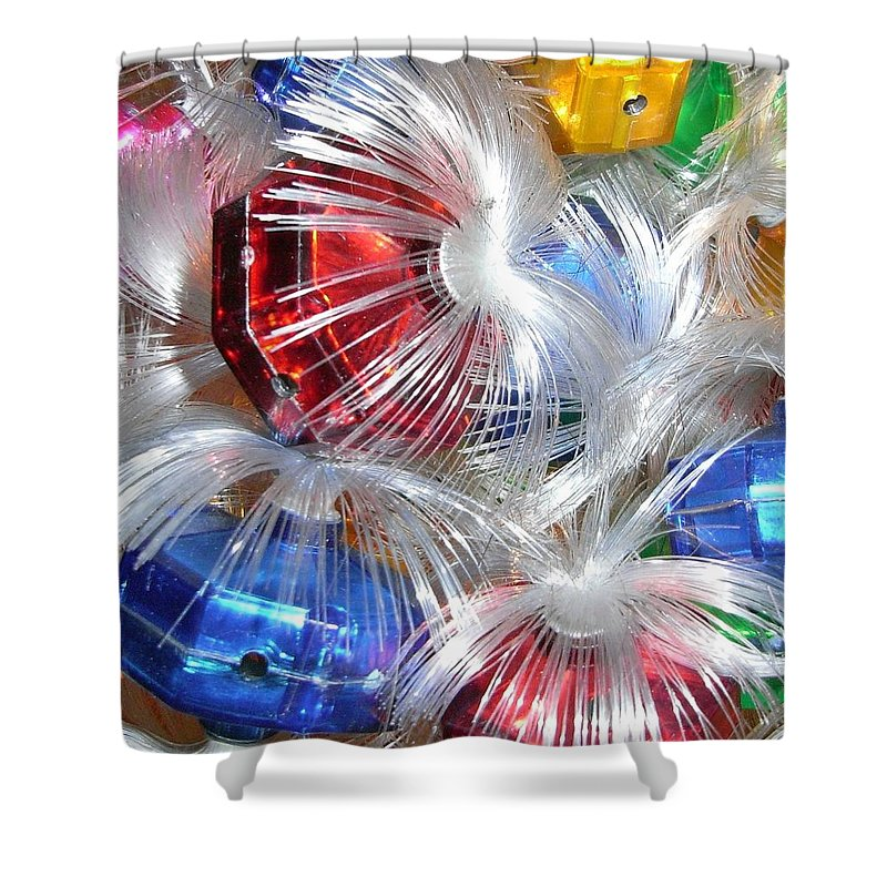 Retro Shower Curtain featuring the photograph Retro Christmas by Wendy Le Ber