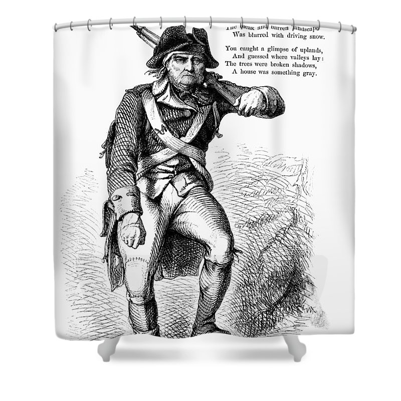 1780s Shower Curtain featuring the photograph Revolutionary Soldier by Granger