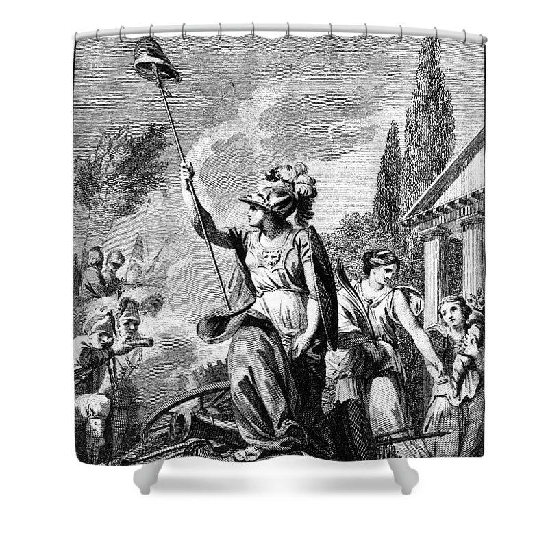 1780 Shower Curtain featuring the photograph Revolutionary War: France by Granger