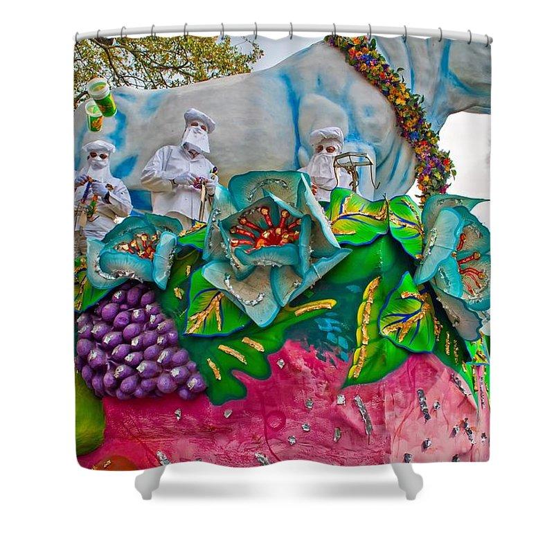 New Orleans Shower Curtain featuring the photograph Rex Mardi Gras Parade II by Steve Harrington