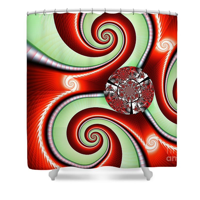 Ribbons And Bows Shower Curtain featuring the digital art Ribbons And Bows by Kimberly Hansen