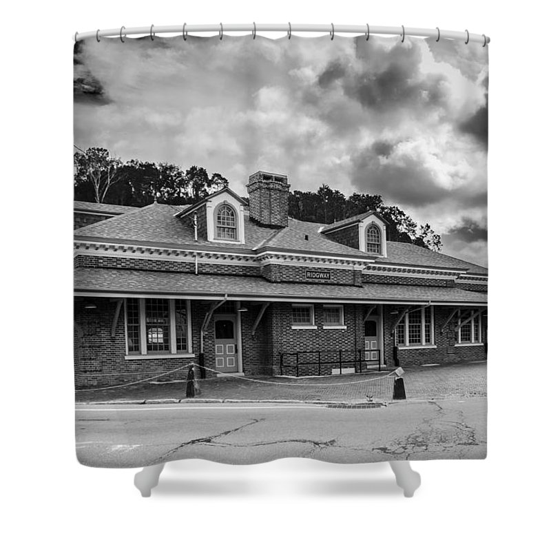 Guy Whiteley Photography Shower Curtain featuring the photograph Ridgway Depot 3518b by Guy Whiteley
