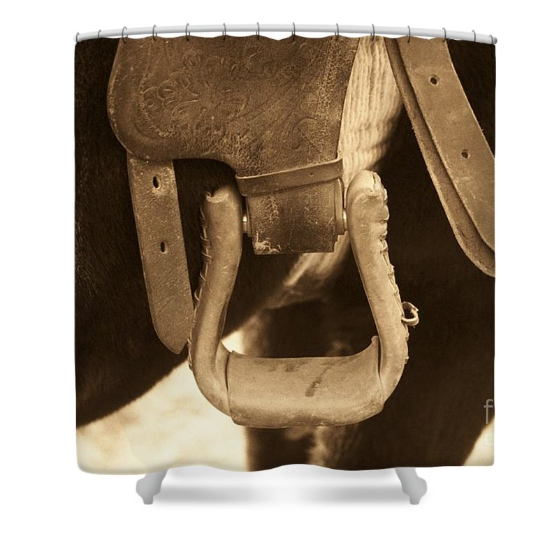 Horse Shower Curtain featuring the photograph Riding The Range by Brandi Maher