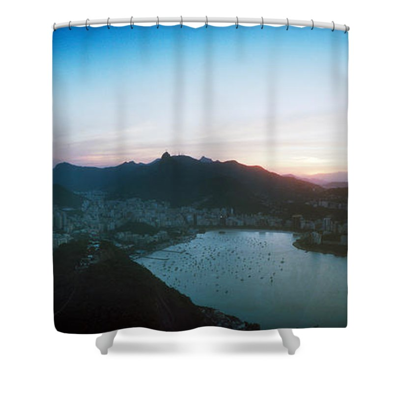 Photography Shower Curtain featuring the photograph Rio De Janeiro Viewed From Sugarloaf by Panoramic Images