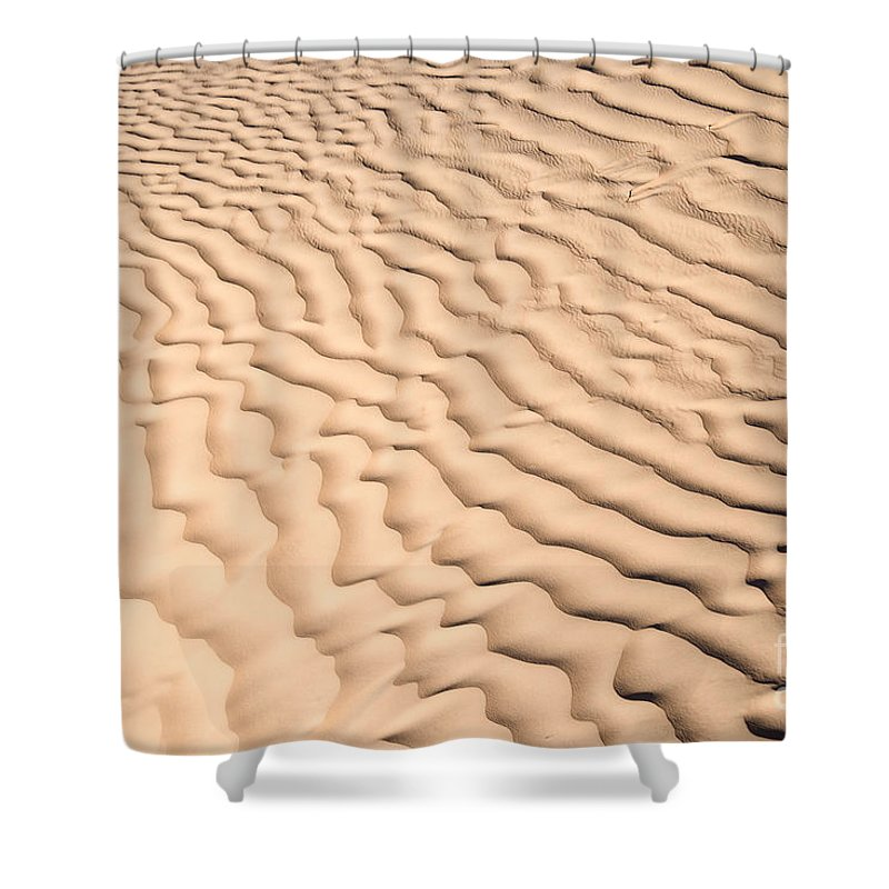 Desert Shower Curtain featuring the photograph Ripples by Delphimages Photo Creations