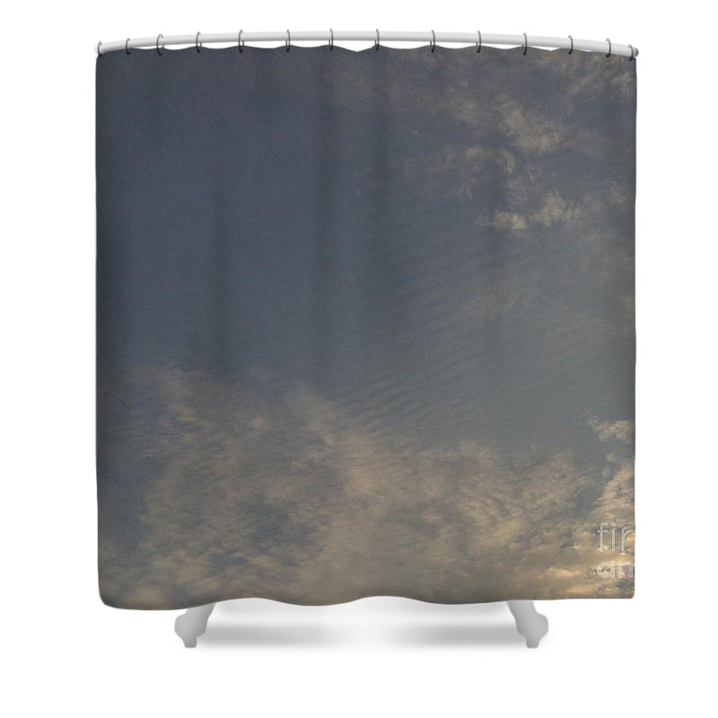 Clouds Shower Curtain featuring the photograph Ripples In The Sky by D Hackett