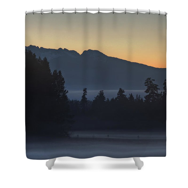 Mist Shower Curtain featuring the photograph Rising Mist by Randy Hall