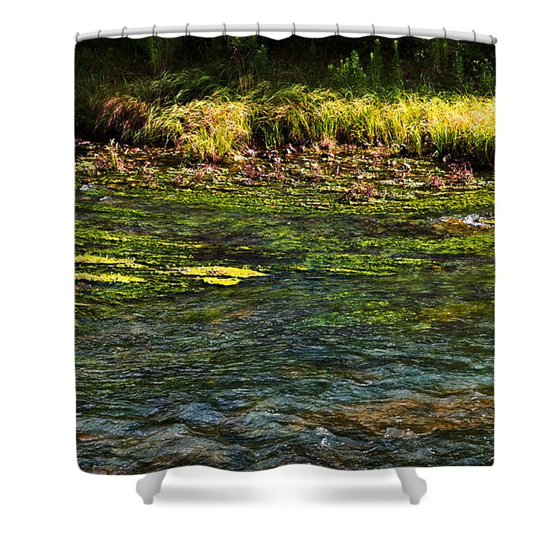 Colors Shower Curtain featuring the photograph River Colors by Gary Richards
