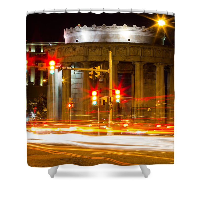 Light Shower Curtain featuring the photograph River Of Light by Gaurav Singh