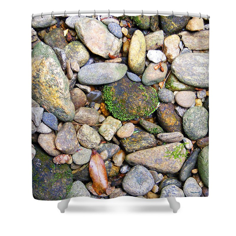 Duane Mccullough Shower Curtain featuring the photograph River Rocks 2 by Duane McCullough