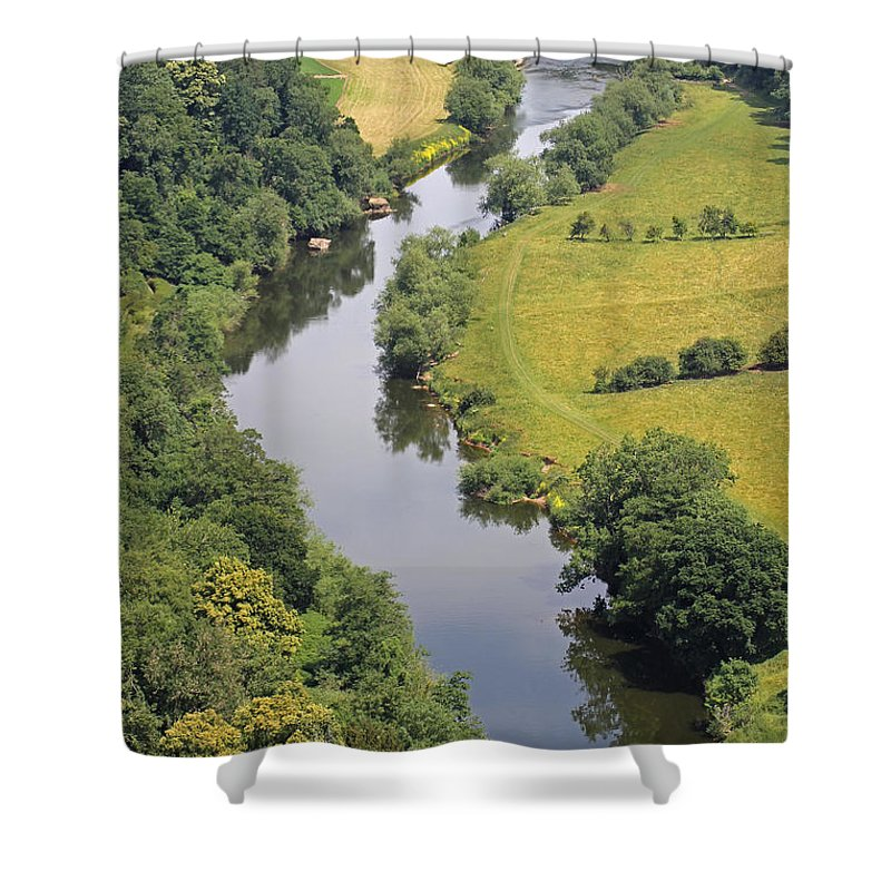 River Wye Shower Curtain featuring the photograph River Wye by Tony Murtagh