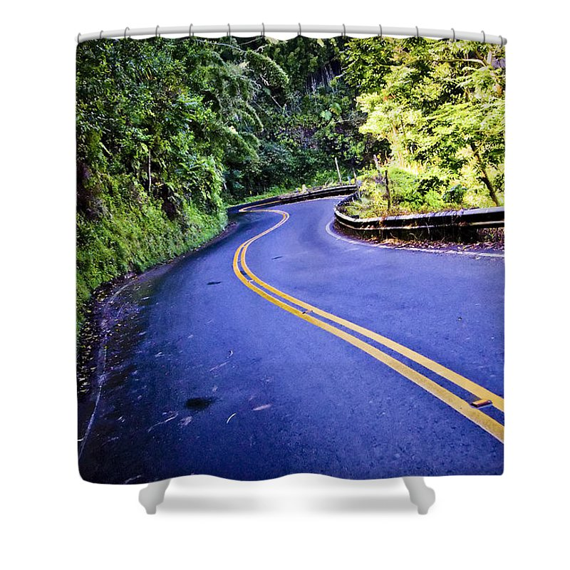 3scape Shower Curtain featuring the photograph Road To Hana by Adam Romanowicz