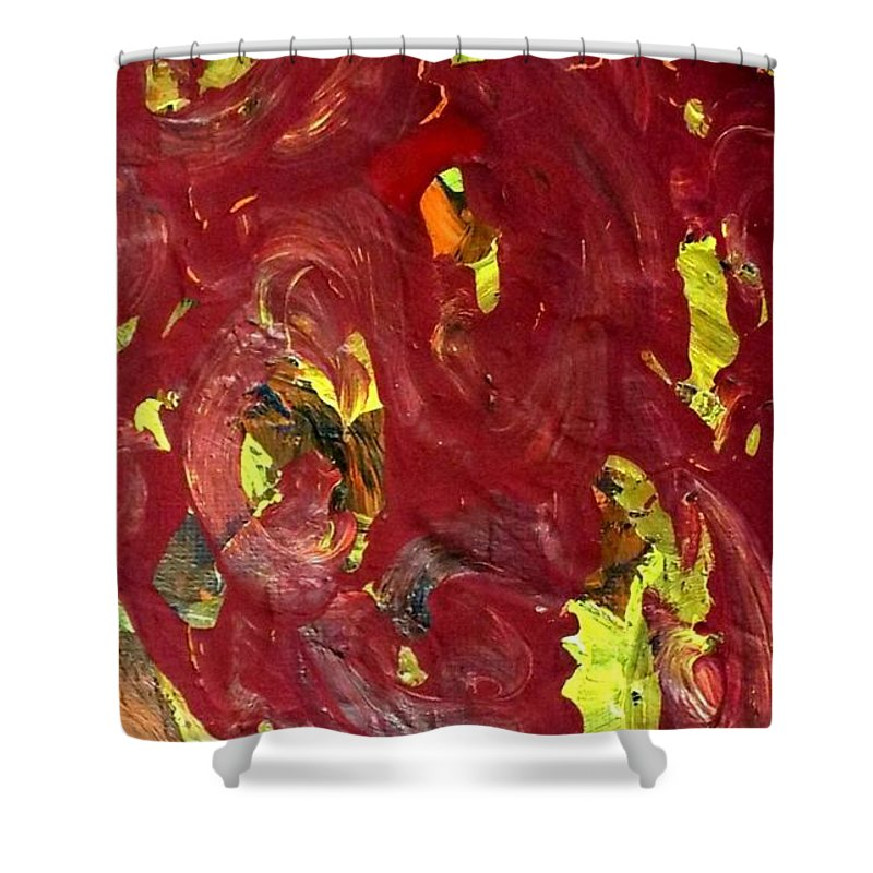 Non Duality Shower Curtain featuring the painting Road To Hypothetical Success by Paula Andrea Pyle