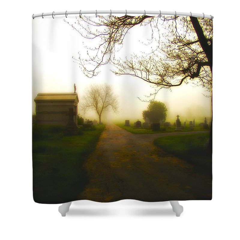 Mausoleum Shower Curtain featuring the photograph Road To The Mausoleum by Gothicrow Images