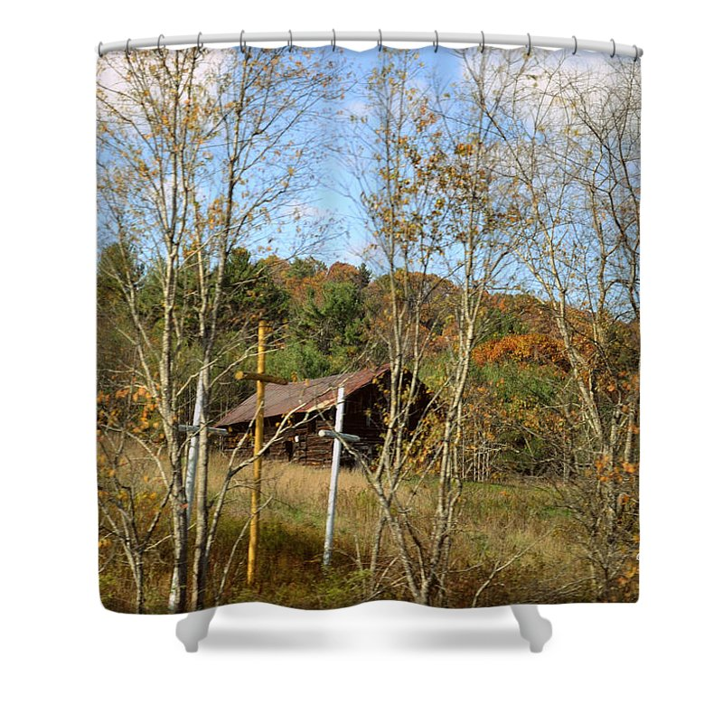 Wright Shower Curtain featuring the photograph Bernard Coffindaffer's Calling by Paulette B Wright