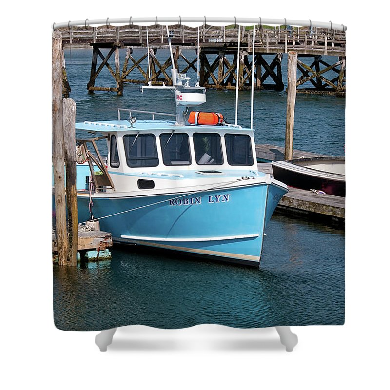 Boat Shower Curtain featuring the photograph Robin Lyn 0220 by Guy Whiteley