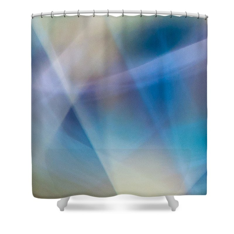 Markman Shower Curtain featuring the photograph Rock Lightpaintings - Rainbow Fluorite I - 3 Of 4 by Dave Markman