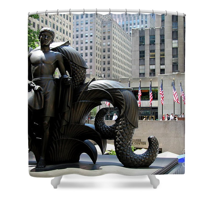 Rockefeller Plaza Shower Curtain featuring the photograph Rockefeller Plaza II by Christiane Schulze Art And Photography